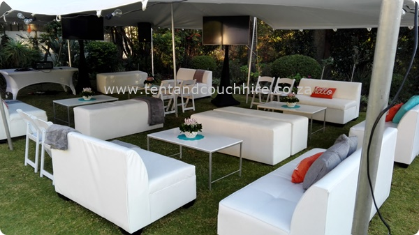 tent and couch hire in Sandton and Cape town
