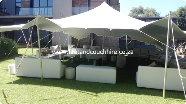 Tent and Couch Hire SA (Pty) Ltd - Stretch Tent,White Couch