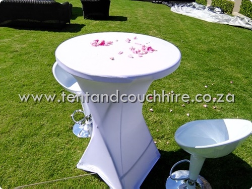Tent and couch hire cocktail setup for Cocktail tables to hire in cape town